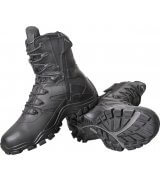 "Bates Delta-8 8"" Individual Comfort System Boots with Side Zip, black leather tactical boots, tactical footwear"