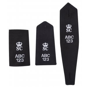 Embroidered Epaulettes - SC & Crown