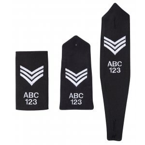 Embroidered Epaulettes - Sgt Chevron