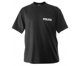 Police Raid T-Shirt - Black